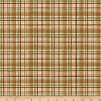Clothworks Wild and Free Plaid Caramel