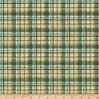 Clothworks Wild and Free Plaid Light Forest