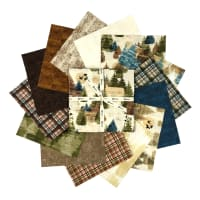 "Clothworks Wild and Free 10"" Squares Multi 42pcs"