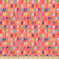 Clothworks Happy Word Toss Coral