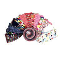 Clothworks Happy Strip Rolls 40pcs