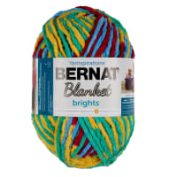 Bernat Blanket Brights Yarn (300g/10.5 oz) Rainbow Shine Varg