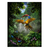 "Hoffman Digital Call Of The Wild 33"" Jungle Parrot Panel Amazon"