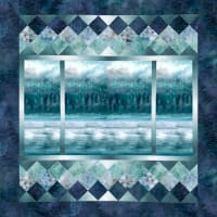 "Hoffman McKenna Ryan A View From Here 46"" x 47.5"" Quilt Kit Teal"