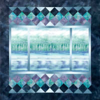 "Hoffman McKenna Ryan A View From Here 46"" x 47.5"" Quilt Kit Earth"
