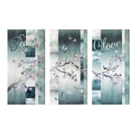"Hoffman McKenna Ryan Peace Joy Love Triptych 12"" x 24"" Kit Peace"