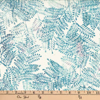 Hoffman Bali Batiks Fern Dusty Blue