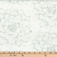 Hoffman Bali Batiks Single Dream Flower Snow