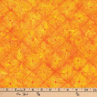 Hoffman Bali Batiks Optical Illusion Poppy
