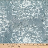 Hoffman Bali Batiks Single Dream Flower Charcoal