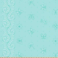 Hoffman Digital Paradigm Shift Single Border Stencil Butterfly Aqua