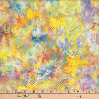 Hoffman Bali Batiks Abstract Floral Neon