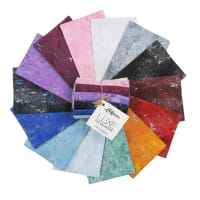 Hoffman Metallic Luxe Fat Quarter Bundle Silver 14 pcs