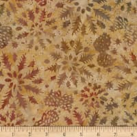 Timeless Treasures Tonga Batik Nature's Lodge Wintry Mix Walnut
