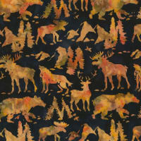 Timeless Treasures Tonga Batik Nature's Lodge Forest Animals Nature