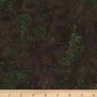 Timeless Treasures Tonga Batik Nature's Lodge Pinecones & Needles Cabin