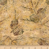 Timeless Treasures Tonga Batik Nature's Lodge Pinecones & Needles Oak