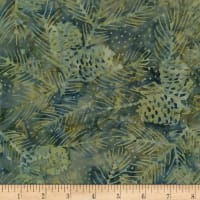 Timeless Treasures Tonga Batik Nature's Lodge Pinecones & Needles Pine