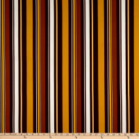Fabric Merchants Liverpool Double Stretch Knit Multi Stripe Mustard/Brown