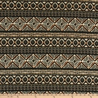 Fabric Merchants Liverpool Double Knit Geo Black/Taupe