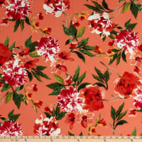 Fabric Merchants Liverpool Double Stretch Knit Abstract Floral Coral/Pink