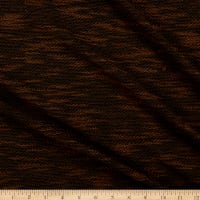 Fabric Merchants French Terry Two Tone Black/Brown