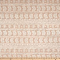 Fabric Merchants French Terry Geo Peach/Ivory