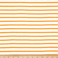 Fabric Merchants French Terry Horizontal Stripe Ivory/Mustard