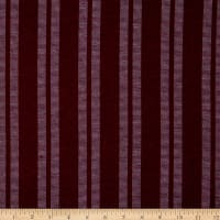 Fabric Merchants French Terry Double Stripe Wine