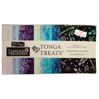 "Timeless Treasures Tonga Batik Treat 5"" Square Pack 40 Pcs. Fantasy"