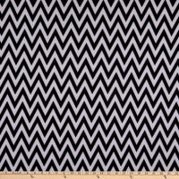 Fabric Merchants Ponte De Roma Knit Chevron Black/White