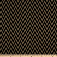 Fabric Merchants Ponte De Roma Stretch Knit Chevron Black/Taupe