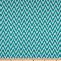 Fabric Merchants Ponte De Roma Stretch Knit Chevron Jade/Ivory