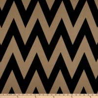Fabric Merchants Ponte De Roma Knit Large Chevron Black/Taupe