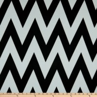 Fabric Merchants Ponte De Roma Knit Large Chevron Black/White