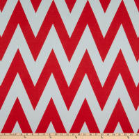 Fabric Merchants Ponte De Roma Knit Large Chevron Ivory/Coral