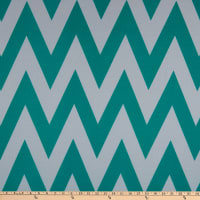 Fabric Merchants Ponte De Roma Knit Large Chevron Ivory/Jade