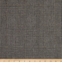 Fabric Merchants 100% Wool Suiting Houndstooth Plaid Brown/Blue