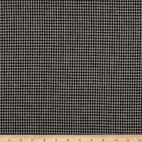 Fabric Merchants Wool Blend Suiting Mini Houndstooth Black/Ivory