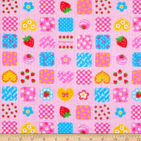 Fabric Merchants Cotton Seersucker Summer Patchwork Pink