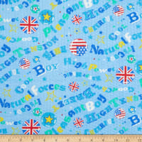 Fabric Merchants Cotton Seersucker English Blue