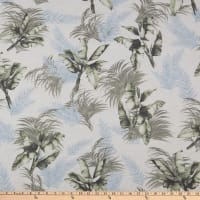 Fabric Merchants Rayon Spandex Jersey Knit Tropical Floral Ivory/Olive