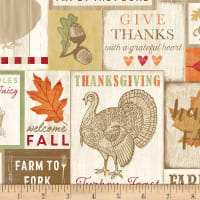 Timeless Treasures Happy Fall Y'all Pumpkin Patch Misc Boards Natural