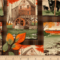 Timeless Treasures Autumn Is Calling Country Fall Collage Multi