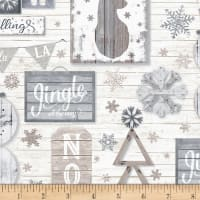 Timeless Treasures Snow Is Falling Rustic Snow Fun Cream