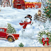Timeless Treasures Tree Farm Allover Country Christmas Multi