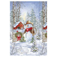 "Timeless Treasures Saddle Up Snowman Country Snowman 24"" Panel Multi"