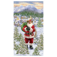 "Timeless Treasures Digital Ho, Ho, Hoedown Santa 24"" Panel Multi"