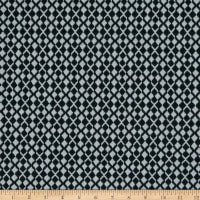 Fabric Merchants Lily Double Jacquard Knit Textured Diamonds Black/Grey