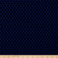 Fabric Merchants Lily Double Jacquard Knit Textured Block Black/Blue